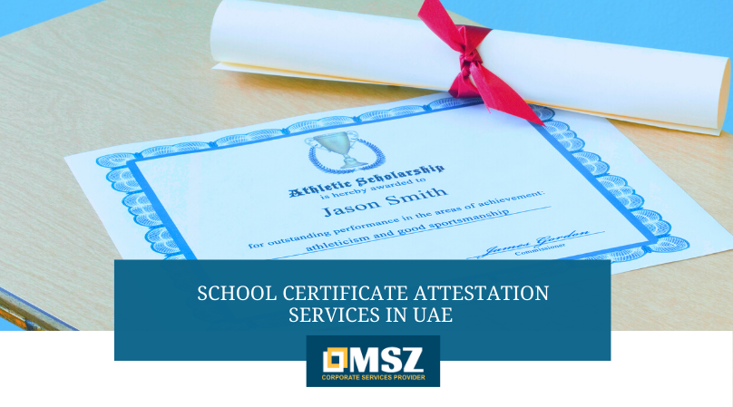 School certificate attestation services