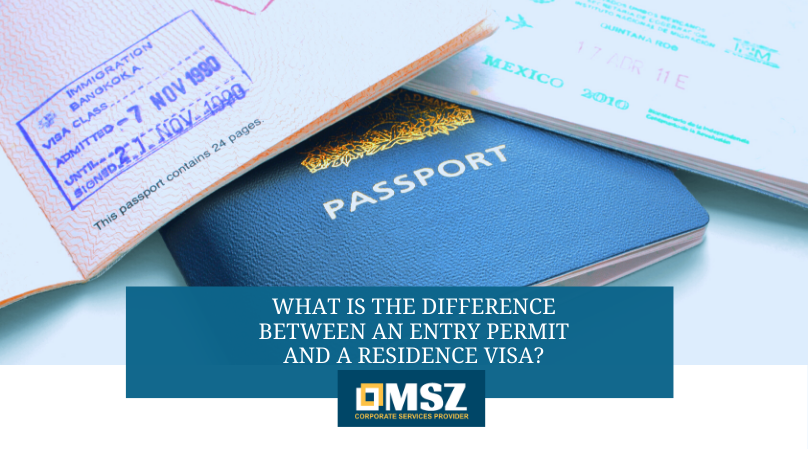 Entry permit and residence visa
