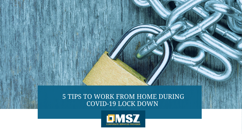 tips to work from home during COVID 19 lock down