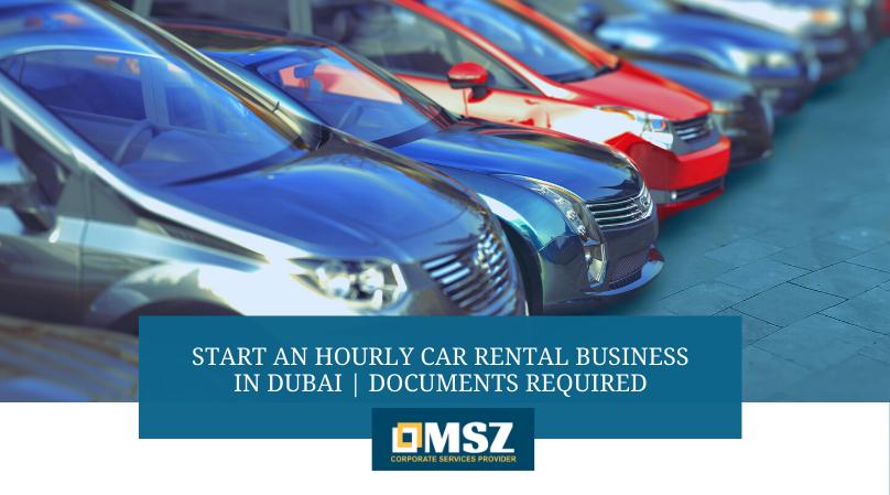 Hourly car rental business in Dubai