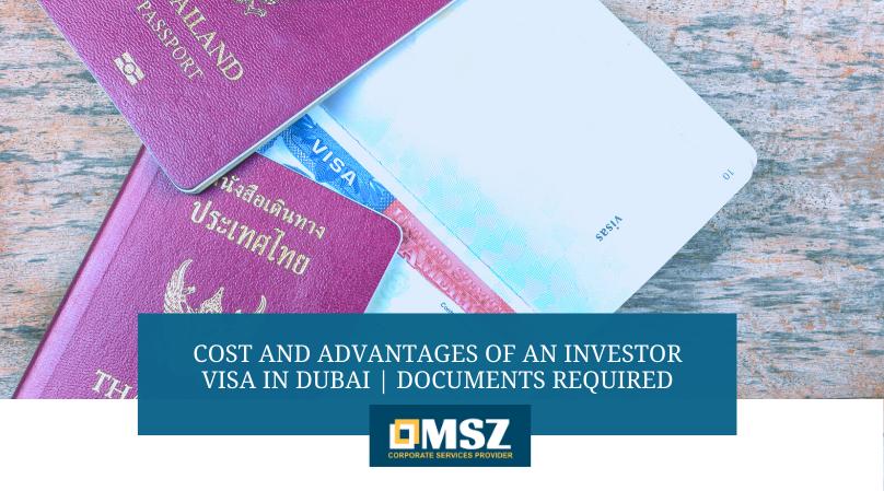 Cost of investor visa
