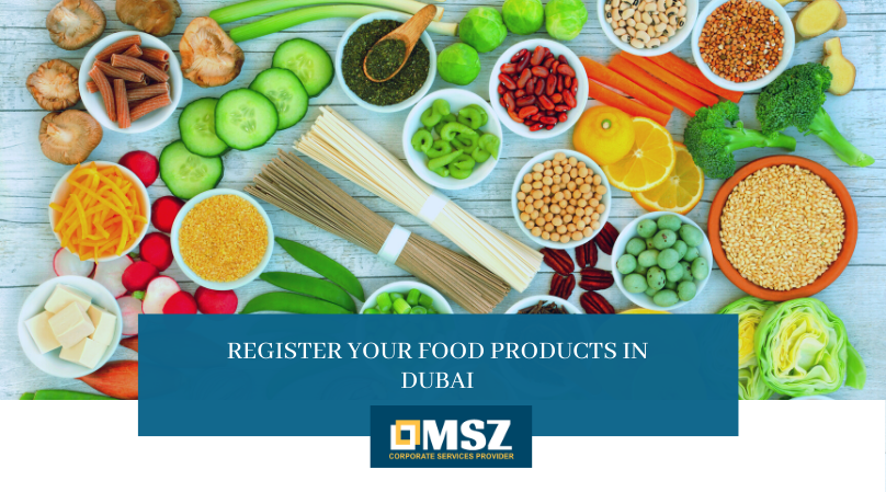 Register food products in Dubai