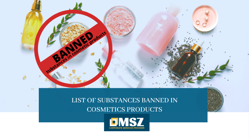 Banned substances in cosmetic products