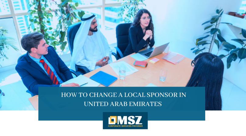 change a local sponsor in uae