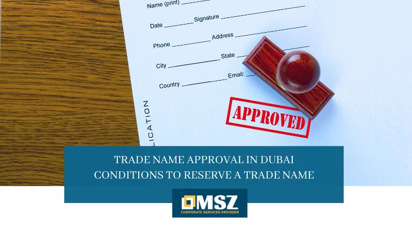 Trade name approval in Dubai