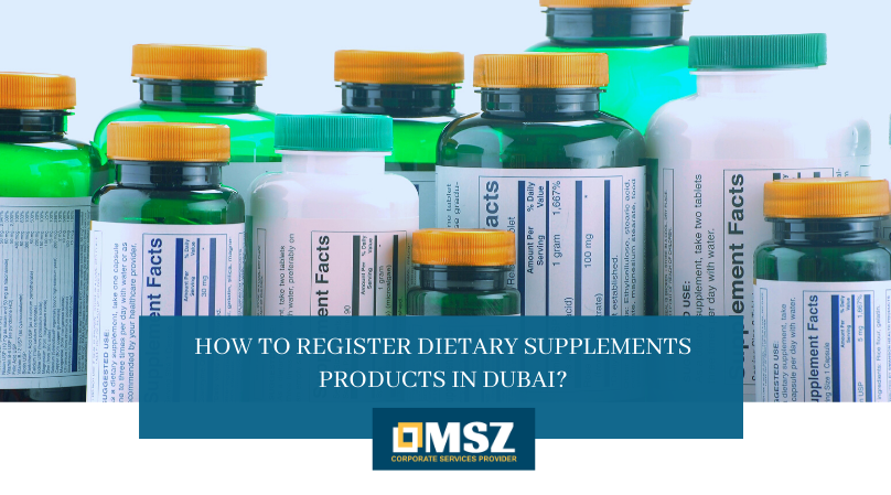 Register Dietary Supplements Products in Dubai