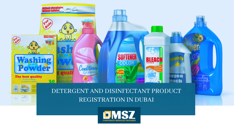 Detergent and Disinfectant Product Registration in Dubai