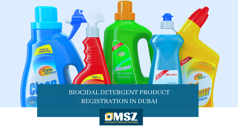 Biocidal detergent product registration in Dubai