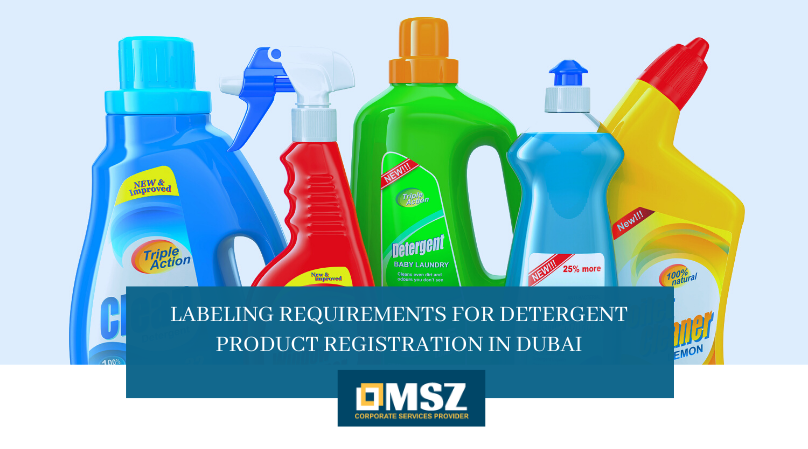 Labeling Requirements for Detergent Product Registration in Dubai