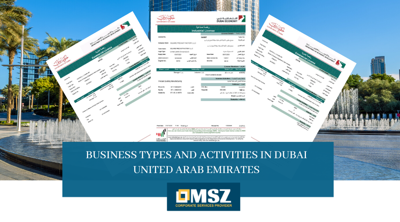 Business Types and Activities in Dubai UAE