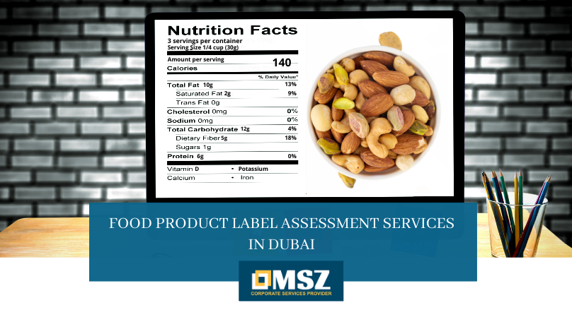Food product label assessment services in Dubai